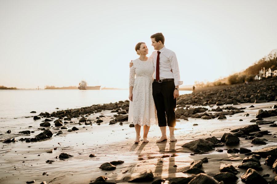 Hochzeitsshooting in Hamburg Blankenese
