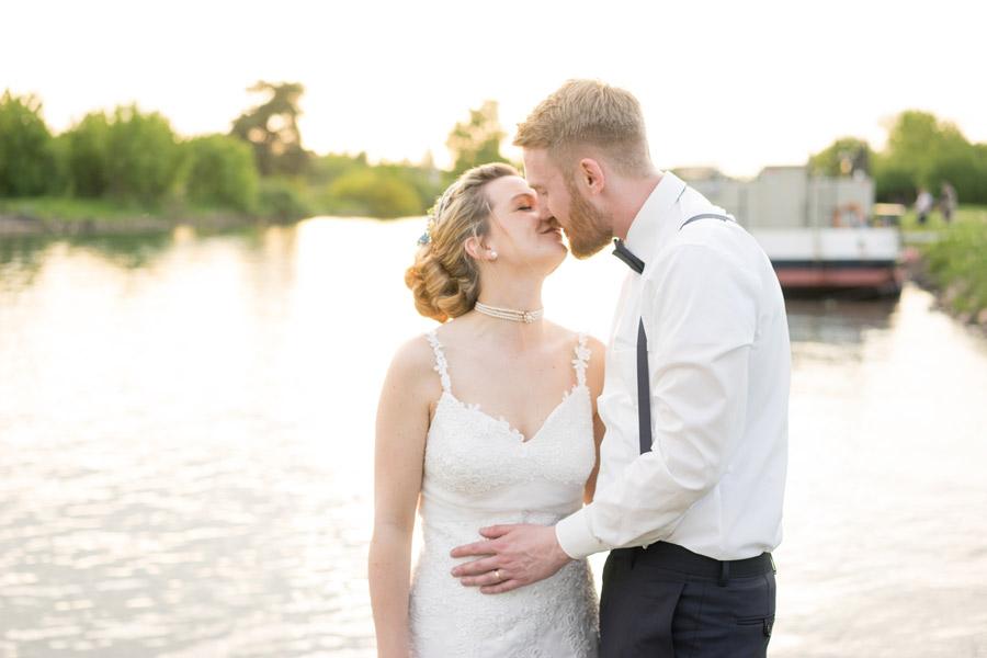 Brautpaar auf ihrer Hochzeit